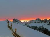 Sonnenaufgang am Peitler Kofel und Aferer Geisler Spitzen