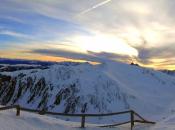 Traumhafter Winter - Sonnenaufgang in den Dolomiten mit Blick auf die Plose