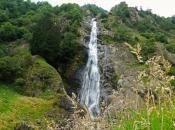 Der beeindruckende Partschinser Wasserfall im Meraner Land mit 97m Höhe