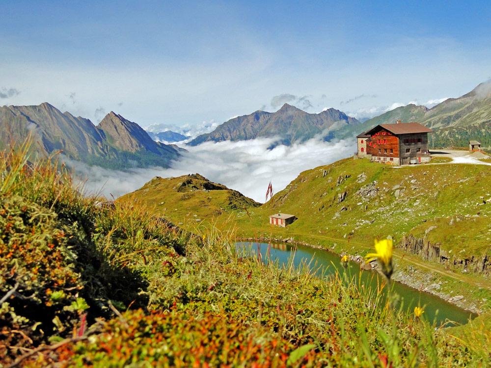 Pfitscher Joch-Haus in einer Höhe von 2277 Meter