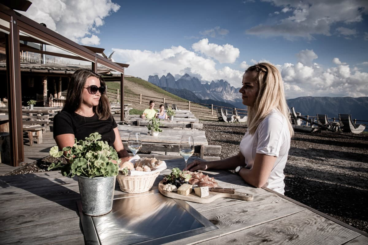 Hüttenurlaub Südtirol  – Rossalm auf der Plose Brixen/ Dolomiten