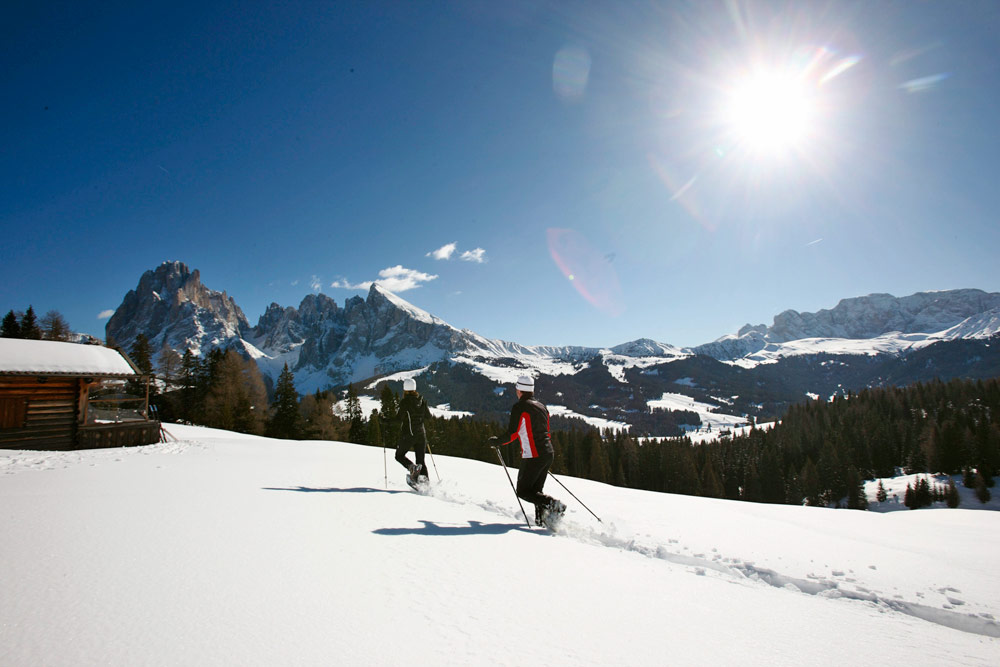 Winterwandern auf der Seiser Alm