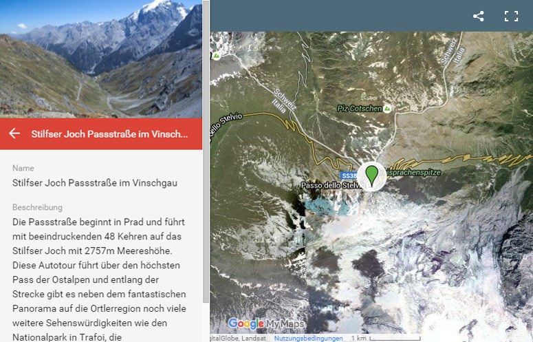 Alpenpässe Karte.Autotouren Südtirol Auto Urlaub Autoreisen Nach Südtirol