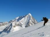 Skitour in der Rieserfernergruppe mit dem mächtigen Hochgall (3.436m) im Hintergrund