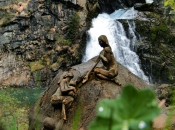 Die Reinbach Wasserfälle in der Nähe von Sand in Taufers bieten ein spektakuläres Naturschauspiel