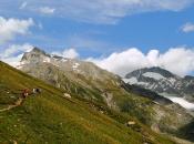 Bergpanorama im Pfitscher Tal mit Blick zum Hochfeiler und den Gliederferner Gletscher